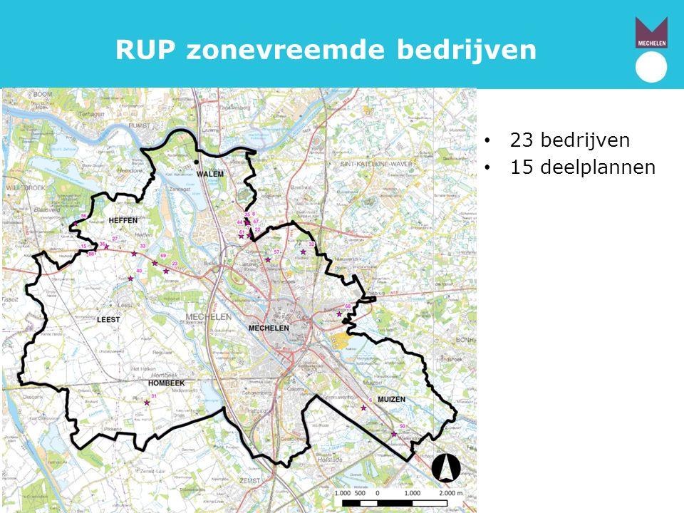 RUP zonevreemde bedrijven 23 bedrijven 15 deelplannen