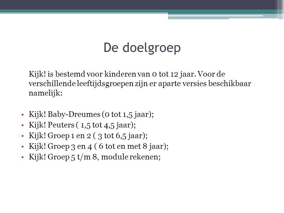 De doelgroep Kijk.is bestemd voor kinderen van 0 tot 12 jaar.