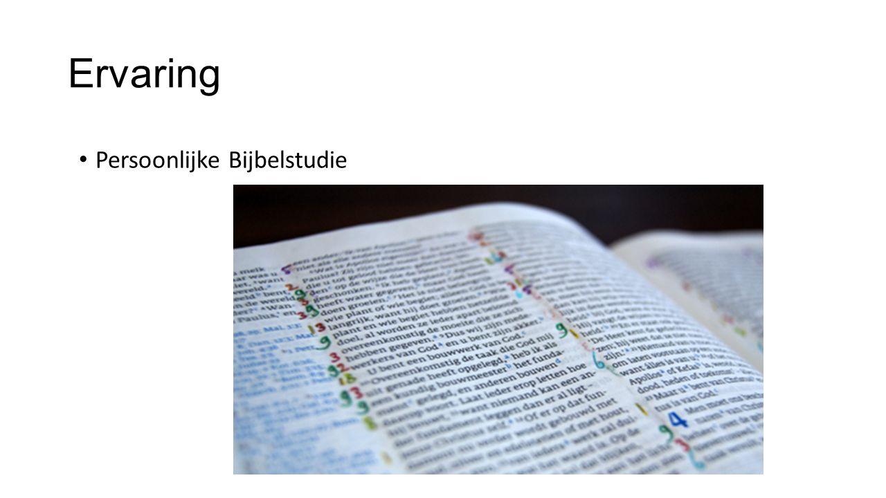 Ervaring Persoonlijke Bijbelstudie