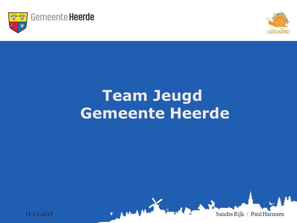 Team Jeugd Gemeente Heerde 11-12-2015Sandra Rijk / Paul Harmsen