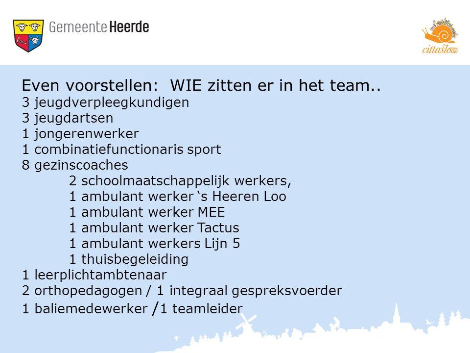 Even voorstellen: WIE zitten er in het team..