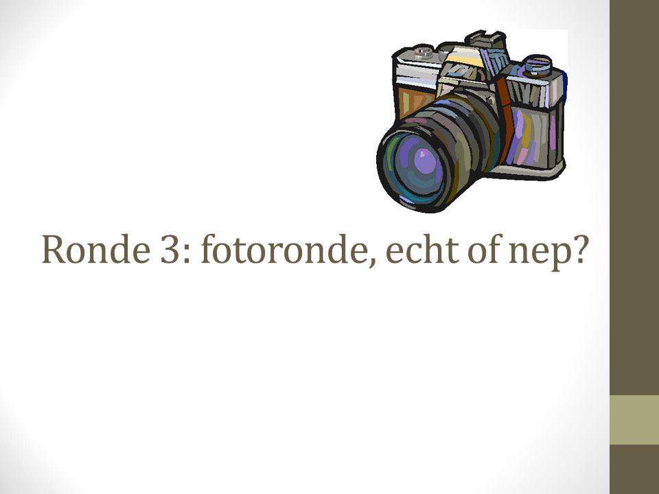 Ronde 3: fotoronde, echt of nep?