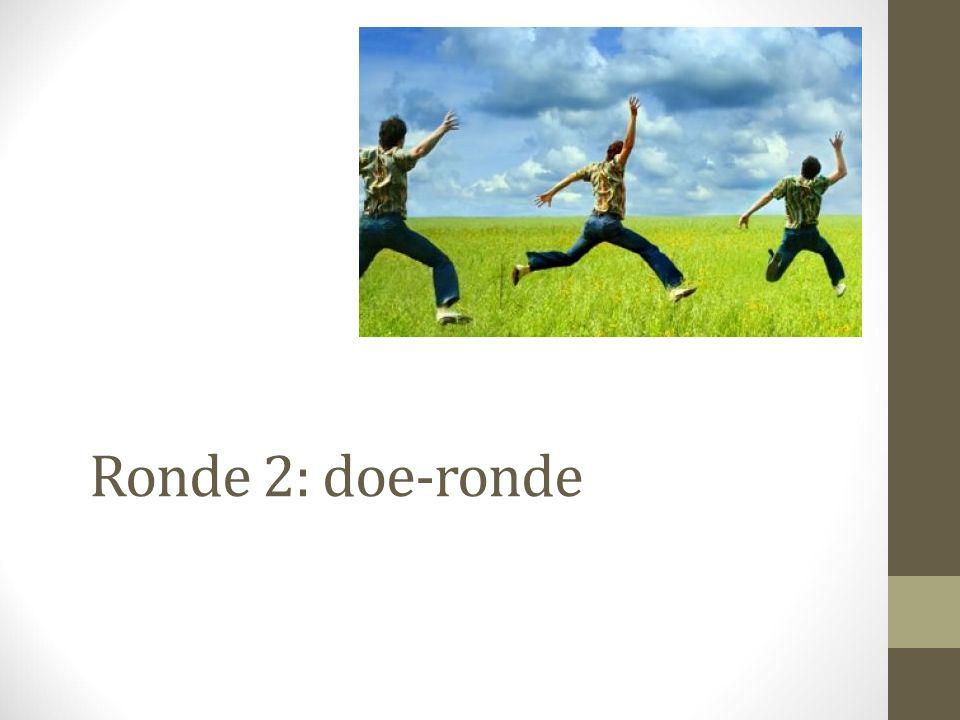 Ronde 2: doe-ronde