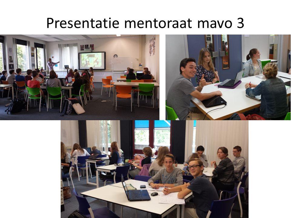 Presentatie mentoraat mavo 3