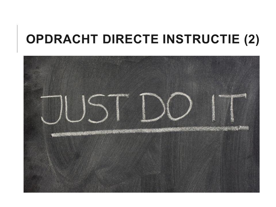 OPDRACHT DIRECTE INSTRUCTIE (2)