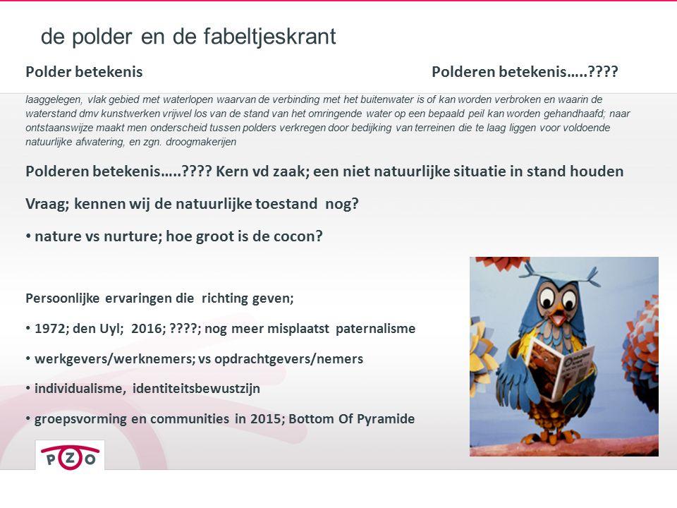 de polder en de fabeltjeskrant Polder betekenisPolderen betekenis….. .