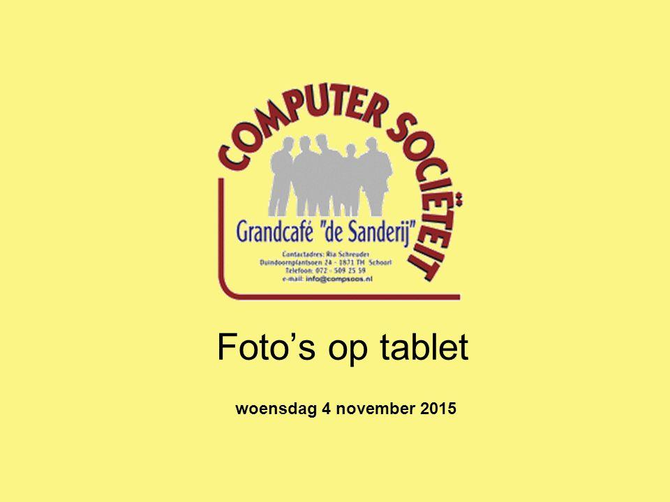 Foto's op tablet woensdag 4 november 2015