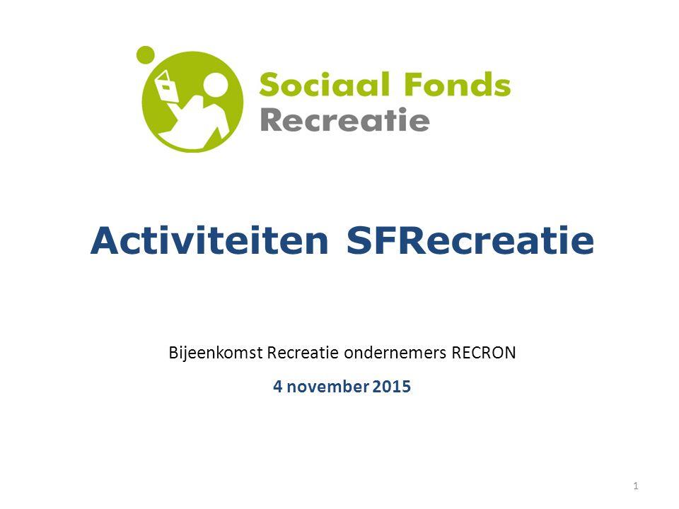 1 Activiteiten SFRecreatie Bijeenkomst Recreatie ondernemers RECRON 4 november 2015