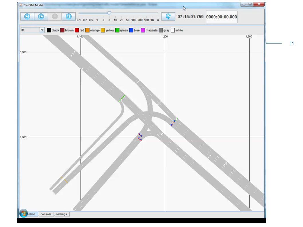 Animaties simulatie N201  Voorbeelden simulatie 11
