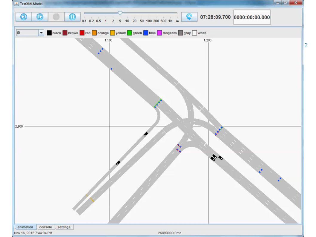 Animaties simulatie N201  Voorbeelden simulatie 12