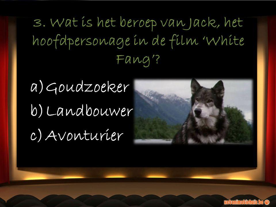 3. Wat is het beroep van Jack, het hoofdpersonage in de film 'White Fang'.