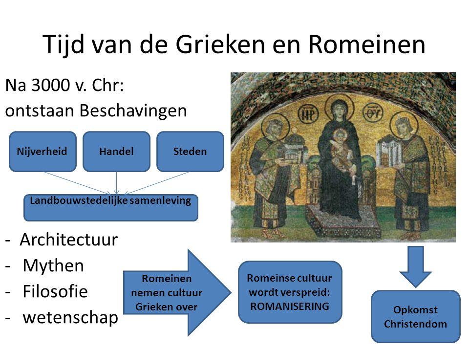 Tijd van de Grieken en Romeinen Na 3000 v.