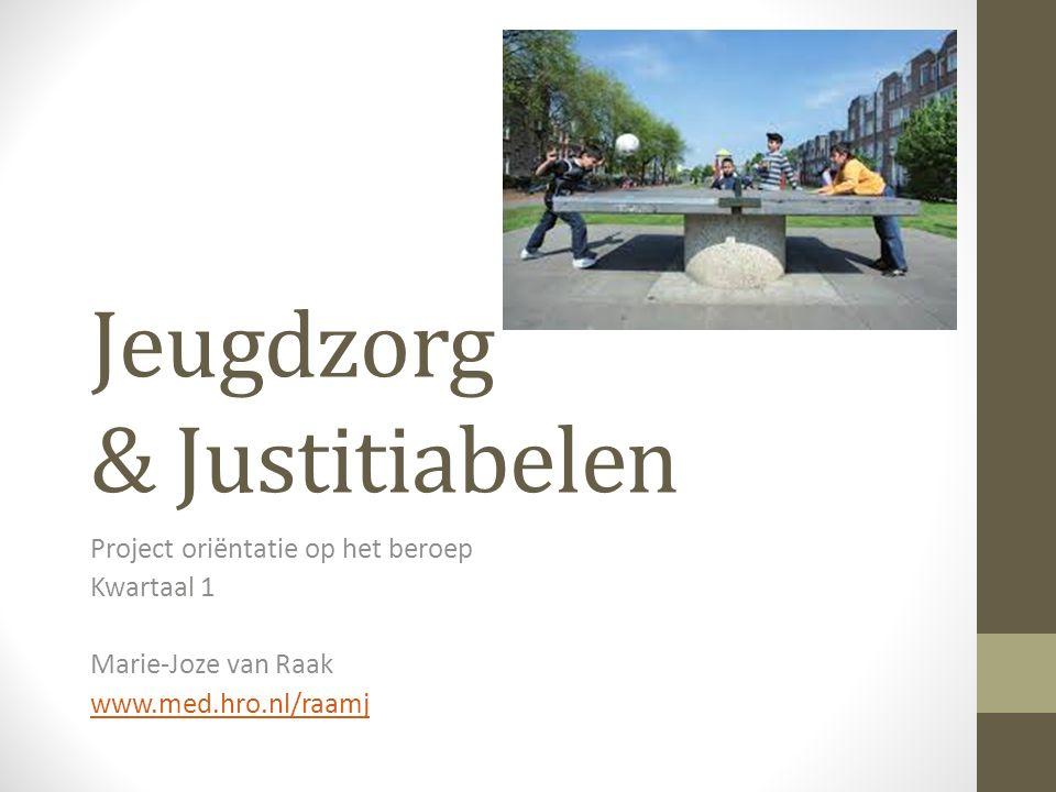 Jeugdzorg & Justitiabelen Project oriëntatie op het beroep Kwartaal 1 Marie-Joze van Raak www.med.hro.nl/raamj