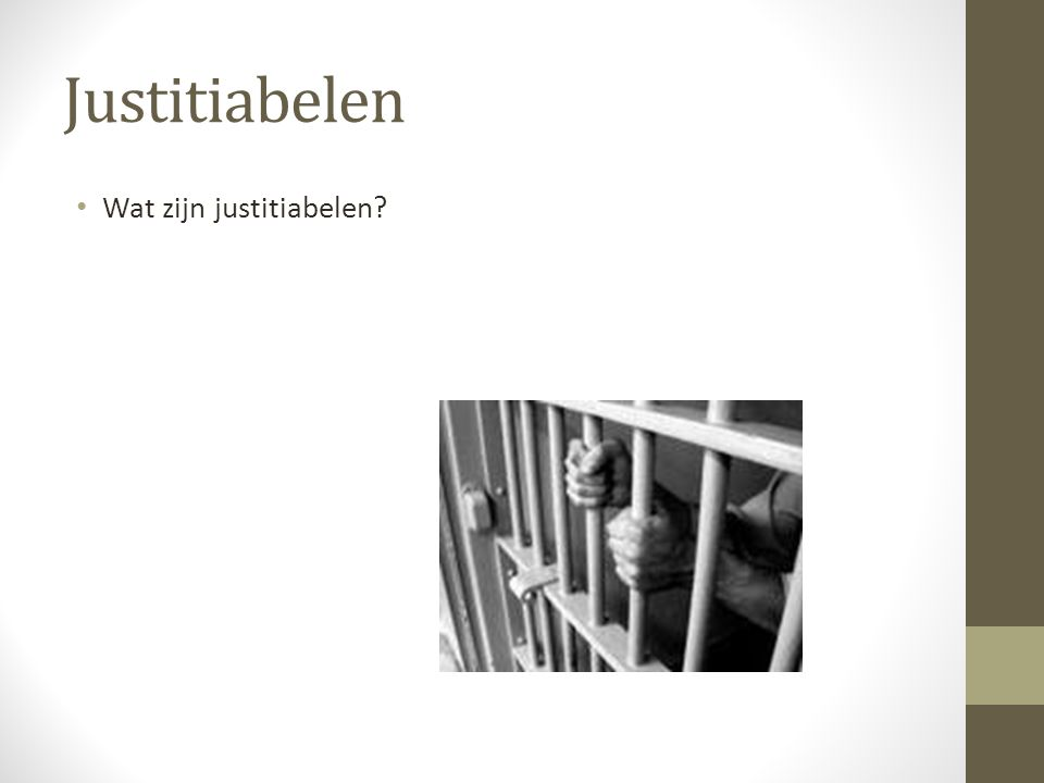 Justitiabelen Wat zijn justitiabelen?