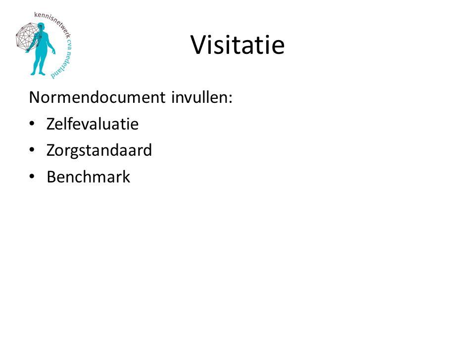 Visitatie Normendocument invullen: Zelfevaluatie Zorgstandaard Benchmark