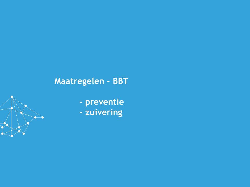 Maatregelen – BBT - preventie - zuivering