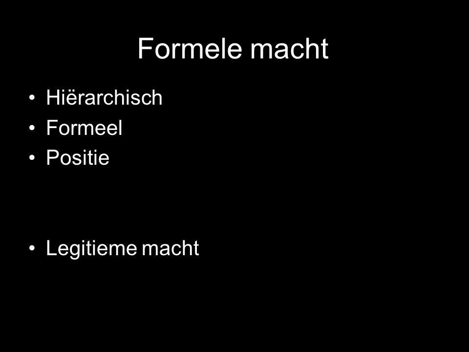Formele macht Hiërarchisch Formeel Positie Legitieme macht