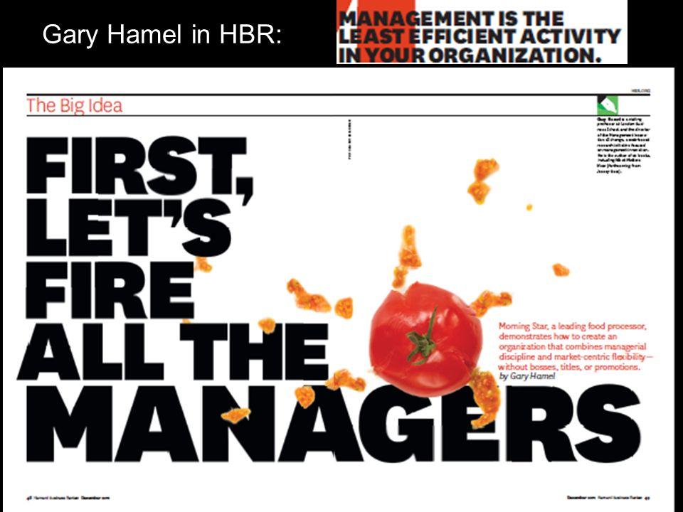 Gary Hamel in HBR: