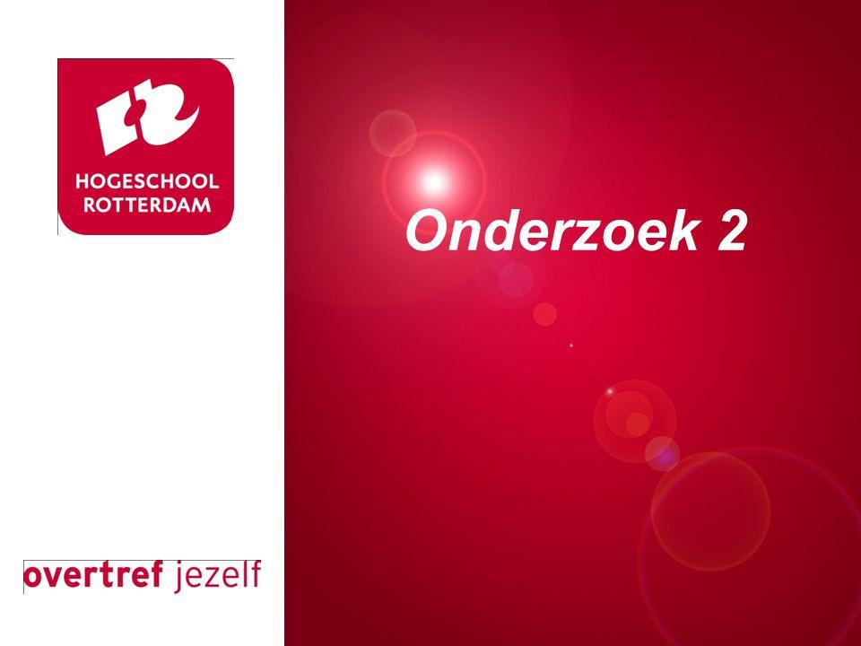 Presentatie titel Rotterdam, 00 januari 2007 Onderzoek 2