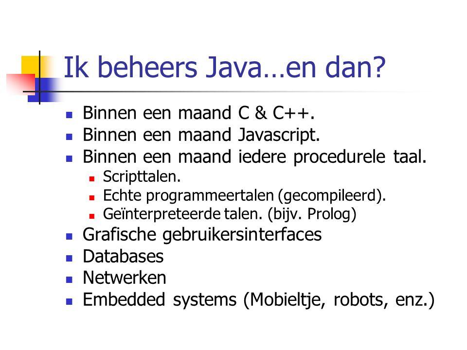 OO: constructor Is een methode met dezelfde naam als de klasse.