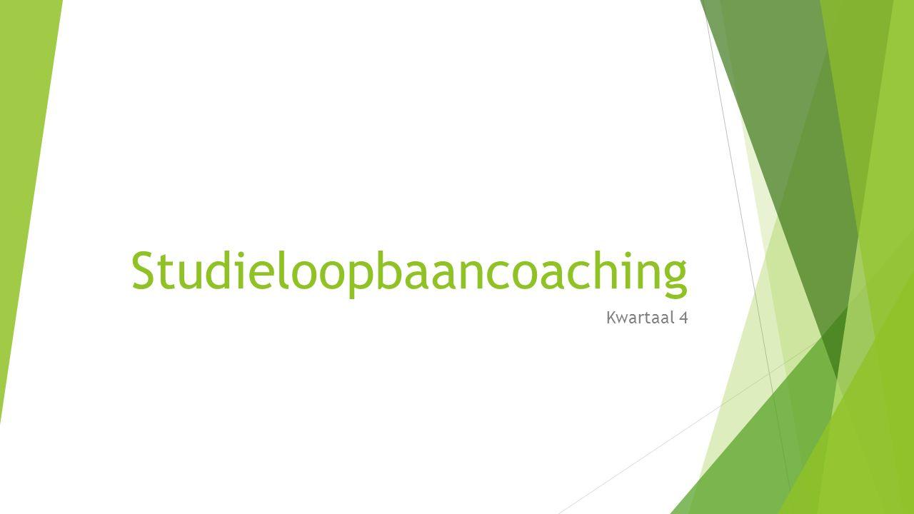 Studieloopbaancoaching Kwartaal 4