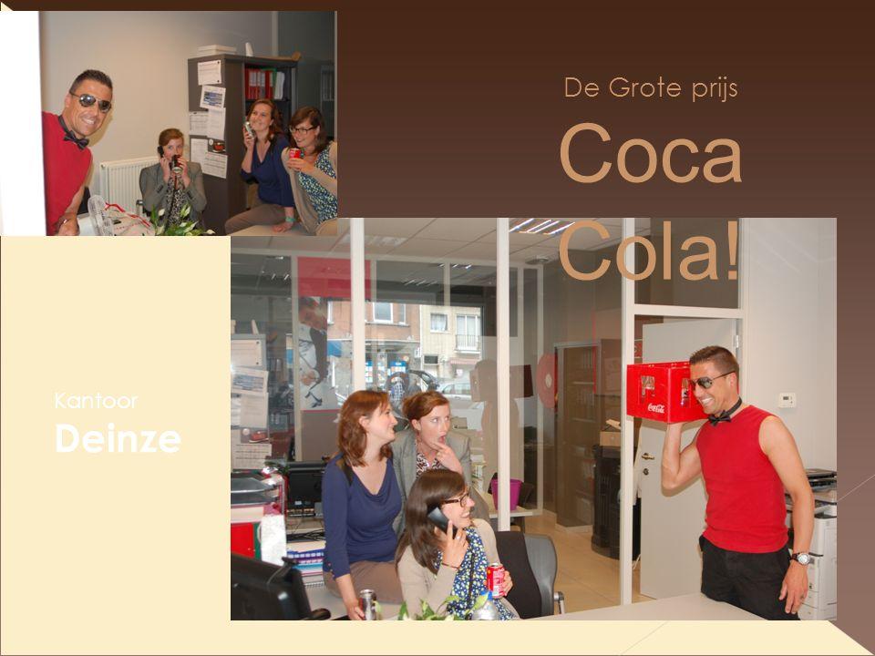 De Grote prijs Coca Cola! Kantoor Deinze