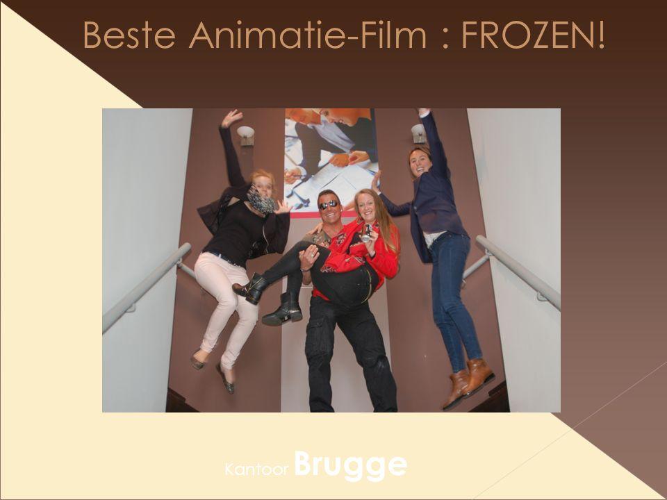 Beste Animatie-Film : FROZEN! Kantoor Brugge