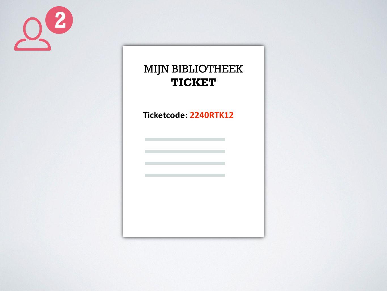 MIJN BIBLIOTHEEK TICKET Ticketcode: 2240RTK12