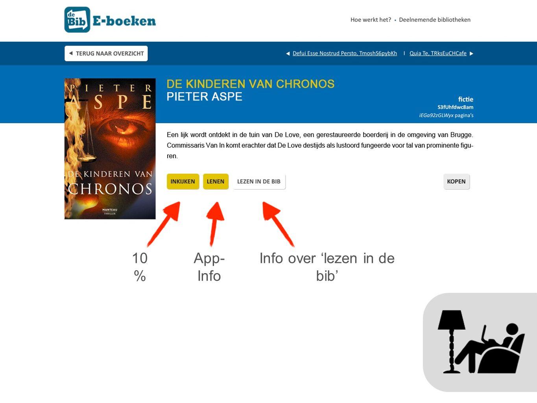 10 % App- Info Info over 'lezen in de bib'