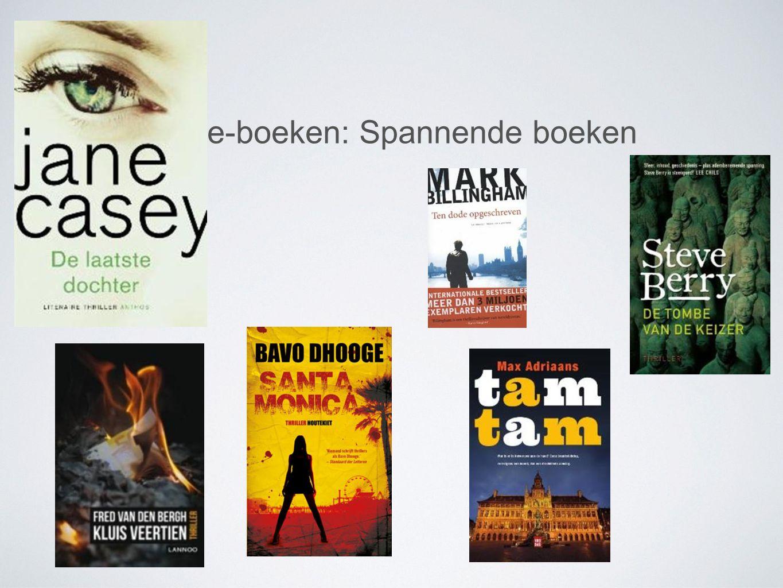 Tips e-boeken: Spannende boeken
