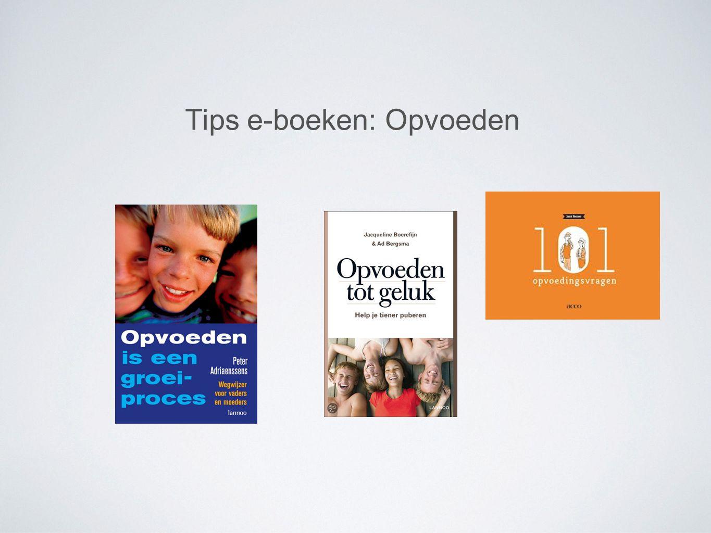 Tips e-boeken: Opvoeden