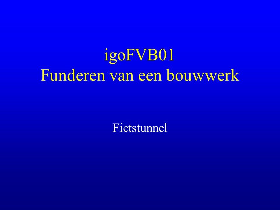 igoFVB01 Funderen van een bouwwerk Fietstunnel