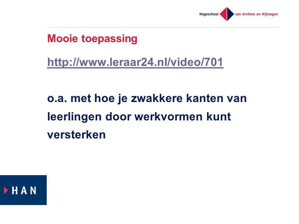 Mooie toepassing http://www.leraar24.nl/video/701 o.a.