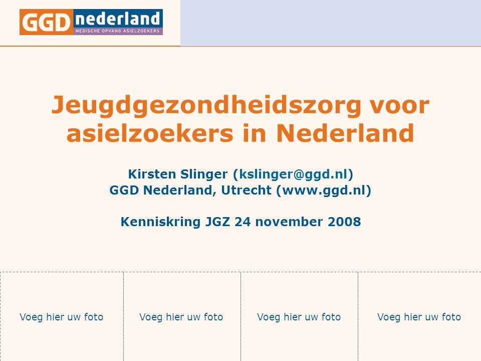 24 november 2008Jeugdgezondheidszorg voor asielzoekers in Nederland Onderwerpen Doelgroep Basistakenpakket voor asielzoekerjeugd Rijksvaccinatieprogramma Routing integrale JGZ dossiers Zorgcoördinatie JGZ PGA door GGD en 2