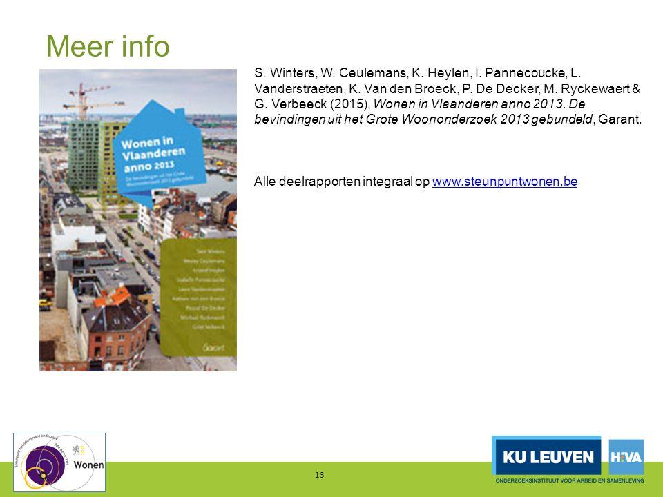 Meer info 13 S. Winters, W. Ceulemans, K. Heylen, I.