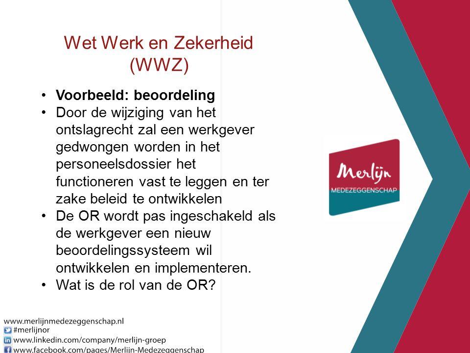 Wet Werk en Zekerheid (WWZ) Voorbeeld: beoordeling Door de wijziging van het ontslagrecht zal een werkgever gedwongen worden in het personeelsdossier