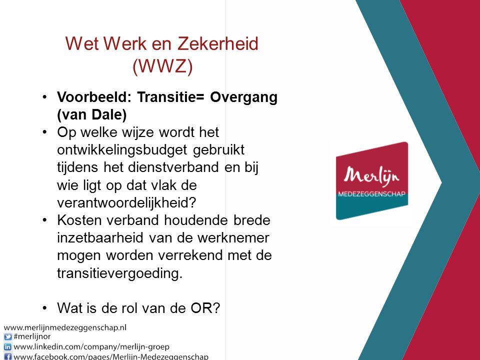 Wet Werk en Zekerheid (WWZ) Voorbeeld: Transitie= Overgang (van Dale) Op welke wijze wordt het ontwikkelingsbudget gebruikt tijdens het dienstverband en bij wie ligt op dat vlak de verantwoordelijkheid.