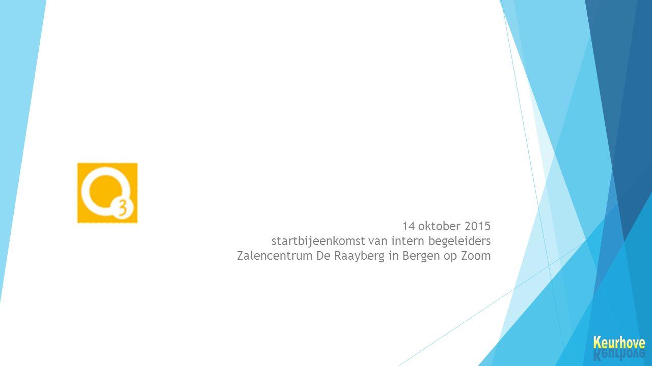 14 oktober 2015 startbijeenkomst van intern begeleiders Zalencentrum De Raayberg in Bergen op Zoom
