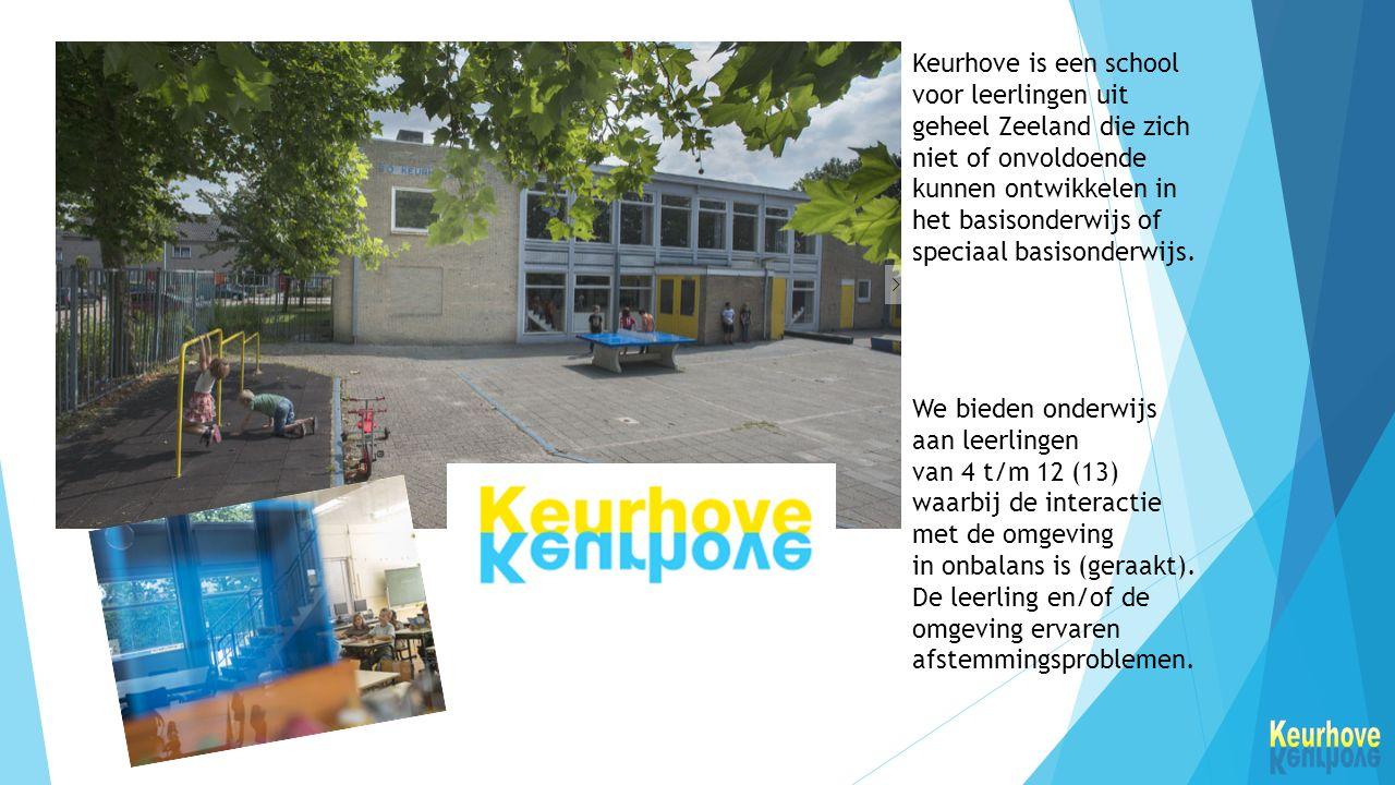 Keurhove is een school voor leerlingen uit geheel Zeeland die zich niet of onvoldoende kunnen ontwikkelen in het basisonderwijs of speciaal basisonderwijs.