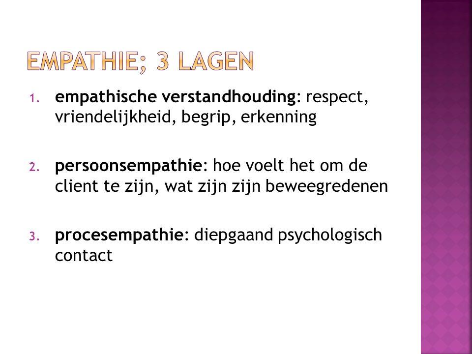 1.empathische verstandhouding: respect, vriendelijkheid, begrip, erkenning 2.