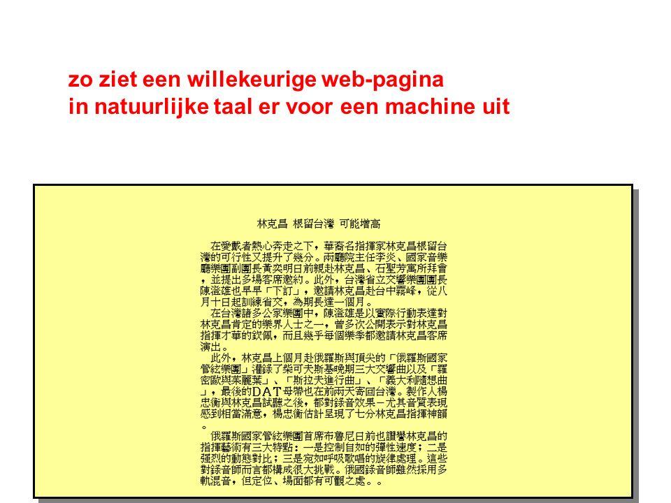 zo ziet een willekeurige web-pagina in natuurlijke taal er voor een machine uit