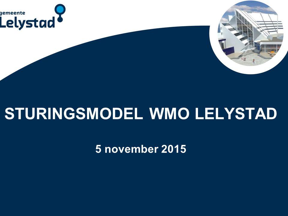 PowerPoint presentatie Lelystad SOCIALE STRUCTUUR VOOR WMO Vangnet Maatwerk vanuit de Wmo Basis