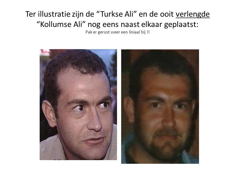 Ter illustratie zijn de Turkse Ali en de ooit verlengde Kollumse Ali nog eens naast elkaar geplaatst: Pak er gerust weer een liniaal bij !!