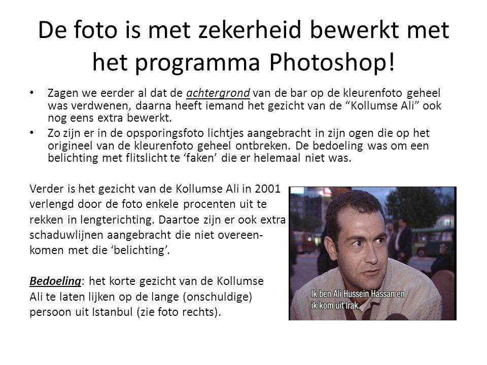 De foto is met zekerheid bewerkt met het programma Photoshop.