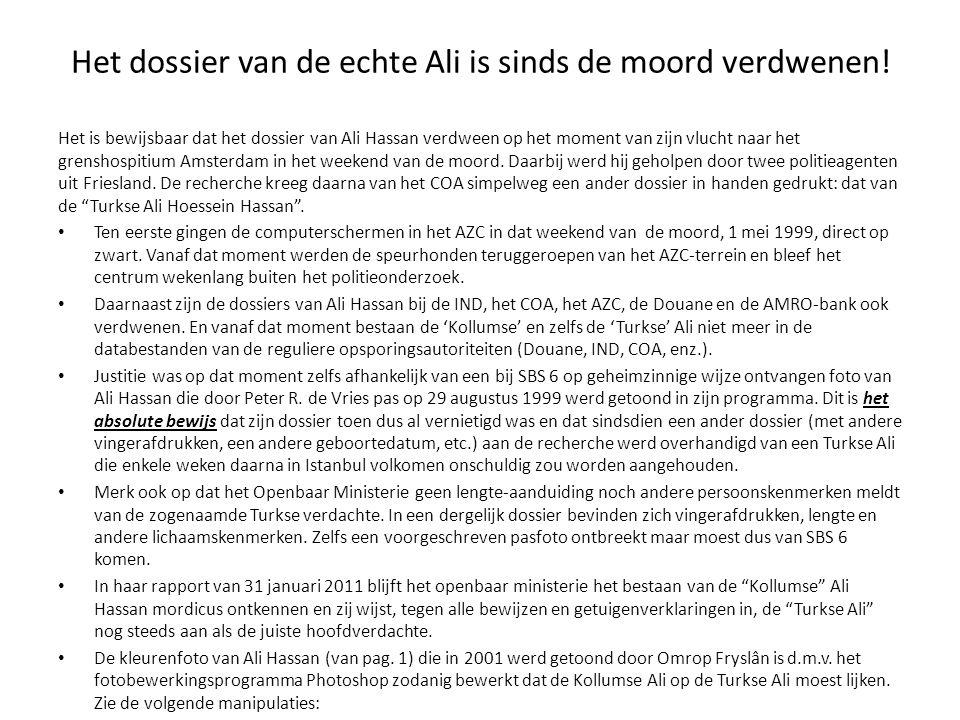 Het dossier van de echte Ali is sinds de moord verdwenen.
