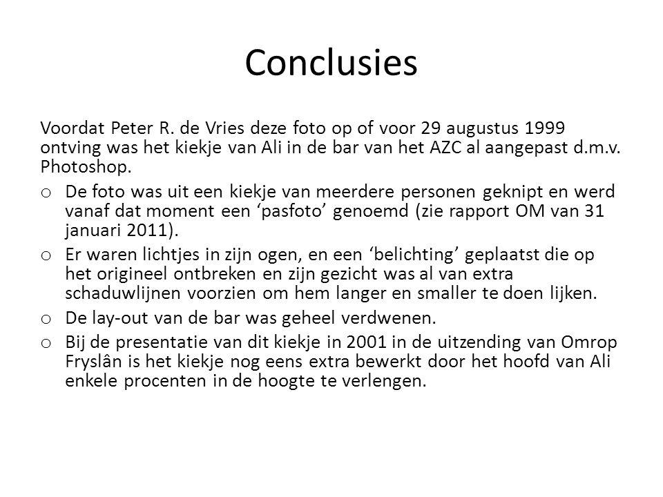 Conclusies Voordat Peter R.