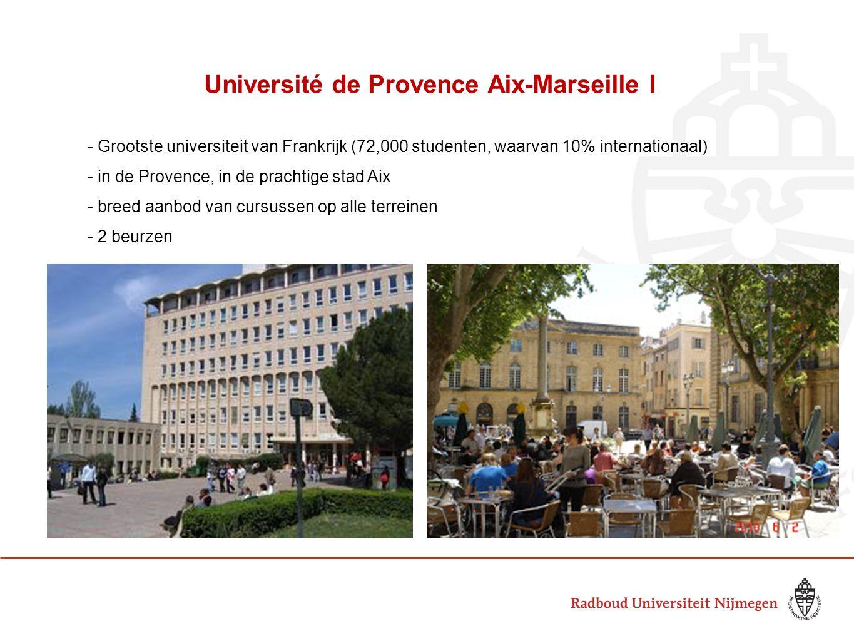 Université de Provence Aix-Marseille I se - Grootste universiteit van Frankrijk (72,000 studenten, waarvan 10% internationaal) - in de Provence, in de