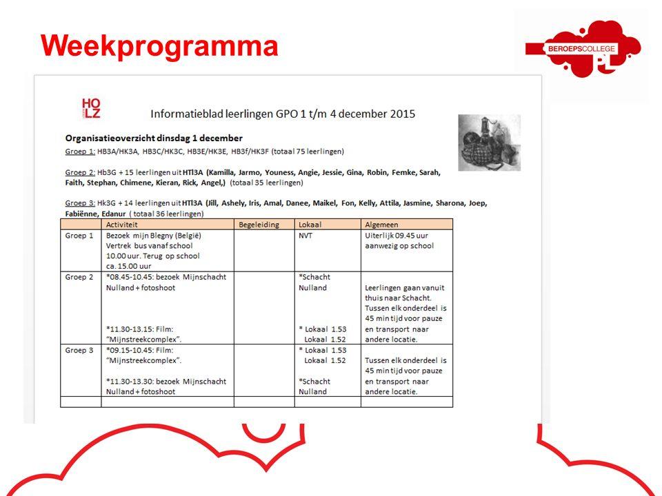 Weekprogramma