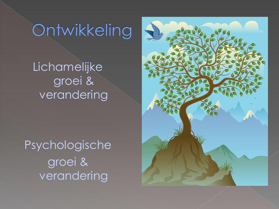 Lichamelijke groei & verandering Psychologische groei & verandering