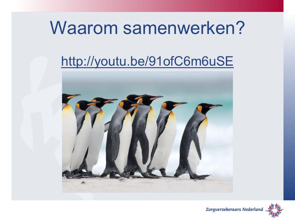 Waarom samenwerken? http://youtu.be/91ofC6m6uSE